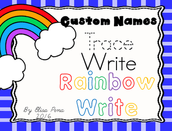 Rainbow Writing Custom Names