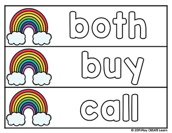 Rainbow Writing Dolch 2nd Grade Sight Words: practice cards & student worksheets