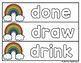 Rainbow Writing Dolch 3rd Grade Sight Words: practice cards & student worksheets