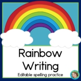 Rainbow Writing Editable Spelling Practice