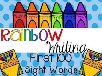 Rainbow Writing {First 100 Edition}