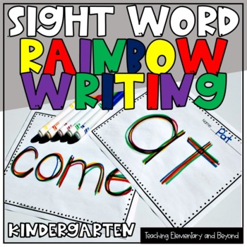 Rainbow Writing: Grade One Sight Words Activity