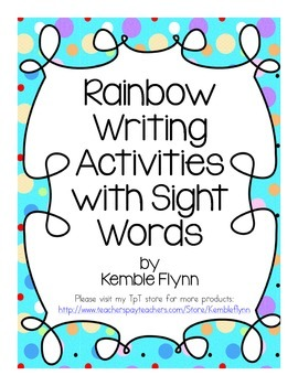 Rainbow Writing Grade 2 Sight Words