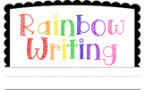 Rainbow Writing - Half Pages