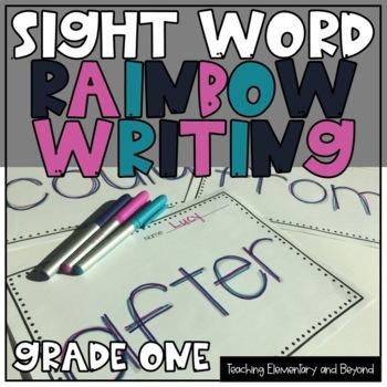 Rainbow Writing: Kindergarten Sight Word Activity