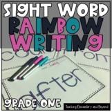 Kindergarten Sight Word Rainbow Writing Practice