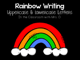 Rainbow Writing Letters