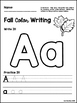 Rainbow Writing Letters {Fall Colors}