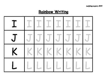 Rainbow Writing - Letters I-L