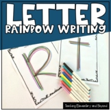 Rainbow Writing: Printing Letters of the Alphabet Activity