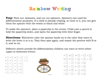 Rainbow Alphabet Writing (Little Prep, Lots of Uses!)