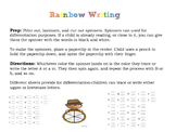 Rainbow Alphabet Writing (Little Prep, Lots of Uses!)