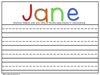 Rainbow Writing Name Practice