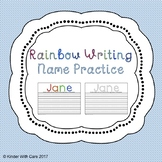 Rainbow Writing Name Practice