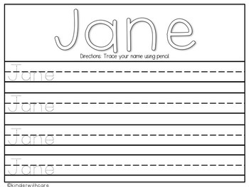 rainbow writing name practice by kinder with care tpt. Black Bedroom Furniture Sets. Home Design Ideas
