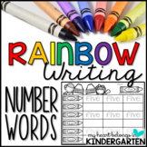 Number Words - Rainbow Writing FREEBIE