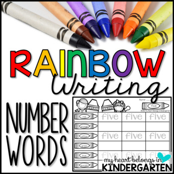 Number Words - Rainbow Writing FREEBIE