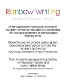 Rainbow Writing Numbers (1-30)