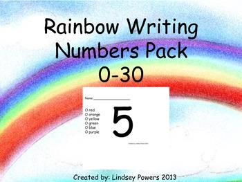 Rainbow Writing Numbers Pack 0-30