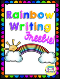 Rainbow Writing Paper Freebie