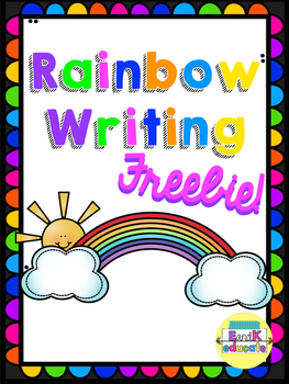 rainbow writing paper
