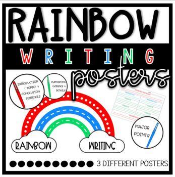 Rainbow Writing Paragraph Center