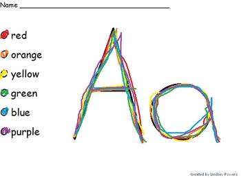 Rainbow Writing Practice