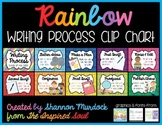 Rainbow Writing Process Clip Chart or Status of the Class