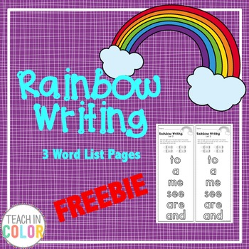 Rainbow Writing Sight Word Activity // FREEBIE