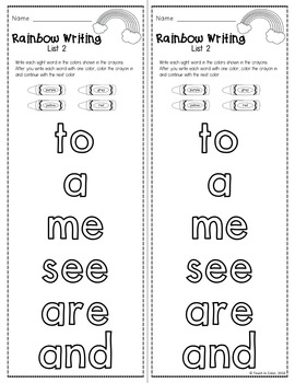 Sight Words Worksheets EDITABLE by Teach In Color   TpT