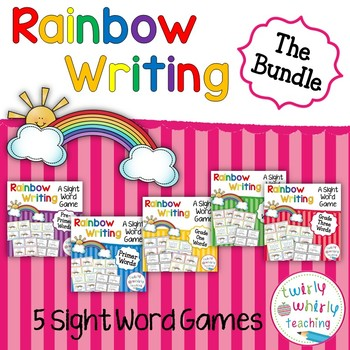 Rainbow Write Sight Words Game Bundle