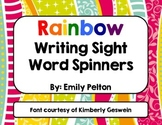 Rainbow Writing Sight Word Spinners
