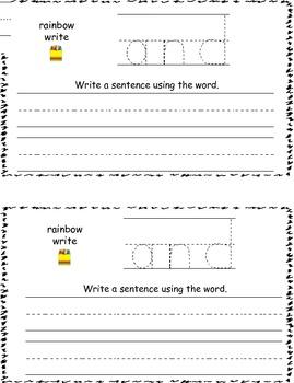 Rainbow Writing Sight Words (1st 100 Fry Words)