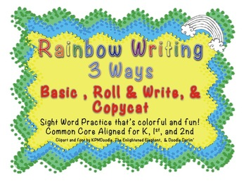 Rainbow Writing Sight Words 3 Ways!