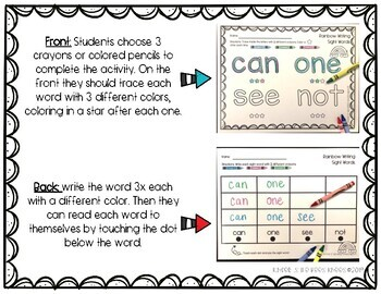 Rainbow Writing Sight Words ** FREEBIE**