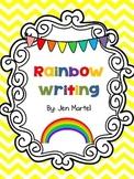 Rainbow Writing Spelling Words (editable)