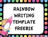 Rainbow Writing Template