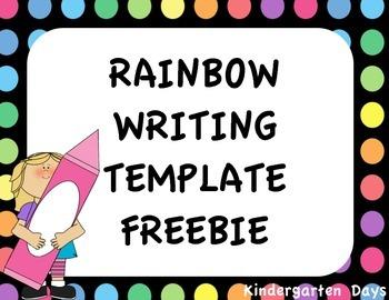 Rainbow Writing Template