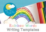 Rainbow Writing Templates