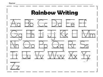 Rainbow Writing Uppercase and Lowercase Letters