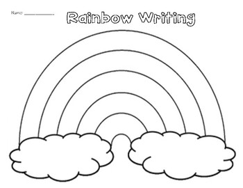 Rainbow Writing Worksheet