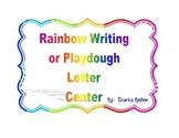 Rainbow Writing and Play-Dough Center