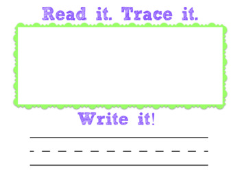 Rainbow Writing for Pre-A and Emergent Readers (Editable)