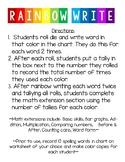 Rainbow Writing with Math Extension