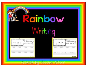 Sight Word Rainbow Writing