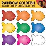 Rainbow Goldfish Cracker Clipart