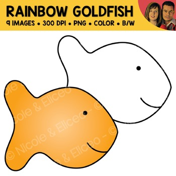 Rainbow Goldfish Cracker Clipart