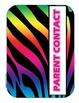 Rainbow Zebra Notebook Dividers