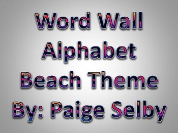 Rainbow Zebra Word Wall Alphabet