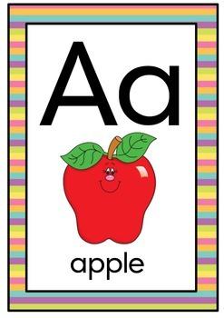 Rainbow alphabet chart